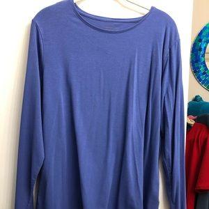 Coldwater Creek periwinkle long sleeve shirt